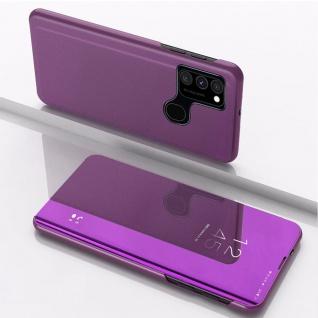 Für Samsung Galaxy A21s View Smart Cover Hülle Magenta Handy Tasche Etui Wake UP