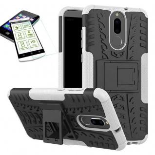 Hybrid Case Tasche Outdoor 2teilig Weiß für Huawei Mate 10 Lite Hülle + Glas Neu