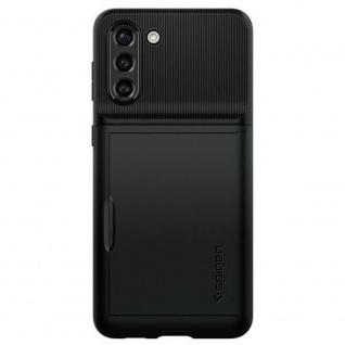 Spigen Slim Armor Silicone Case für Samsung Galaxy S21 Plus Schwarz Schutz Hülle