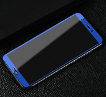 3D Premium 0, 3 mm H9 Hart Glas Blau Folie für Huawei Y5 2018 Schutz Hülle Neu