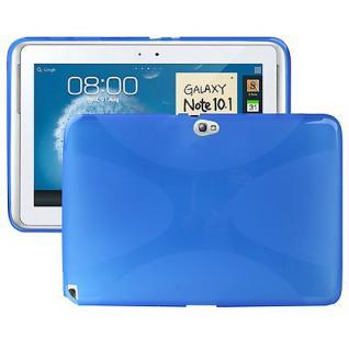 Schutz Silikon für Samsung Galaxy Note 10.1 N8000 Zubehör + Folie Schutzfolie