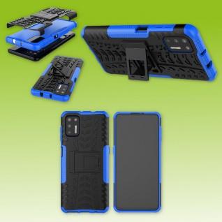 Für Motorola Moto G9 Plus Outdoor Blau Handy Tasche Etuis Hülle Cover Case Neu