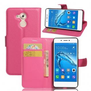Tasche Wallet Premium Pink für Huawei Honor 6C Hülle Case Cover Etui Schutz Neu