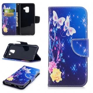 Tasche Wallet Premium Motiv 29 für Samsung Galaxy A8 2018 A530F Hülle Case Etui