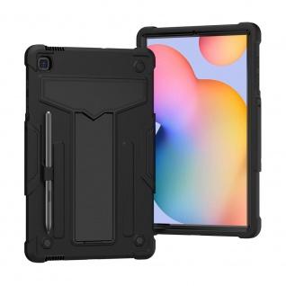 Für Samsung Galaxy Tab S6 Lite aufstellbare Tablet Schutzhülle Cover Schwarz