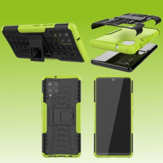 Für Samsung Galaxy A42 5G Hybrid Case Outdoor Grün Handy Tasche Etuis Hülle Neu