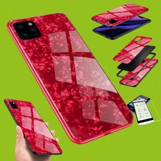 Für Apple iPhone 11 6.1 Color Effekt Rot Tasche Hülle Etuis + H9 Hart Glas Case