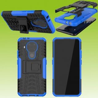 Für Nokia 5.4 Outdoor Blau Handy Tasche Etuis Hülle Cover Case Schutz Zubehör