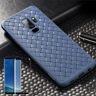 Für Samsung Galaxy S9 Original ROCK Silikon Case Tasche Hülle Blau + 4D Glas