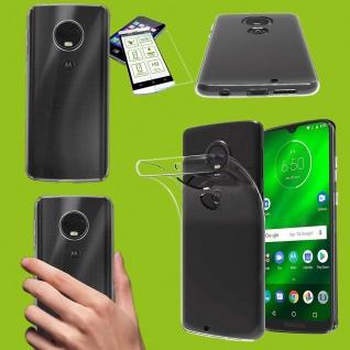 Für Motorola Moto G7 Power Silikon TPU Transparent + H9 Hart Glas Tasche Etuis