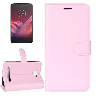 Tasche Wallet Premium Rosa für Motorola Moto Z2 Play Hülle Case Cover Etui Neu
