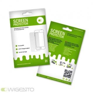 2x Displayschutzfolie Folie Schutzfolie für HTC One M7 M 7 Zubehör + Poliertuch