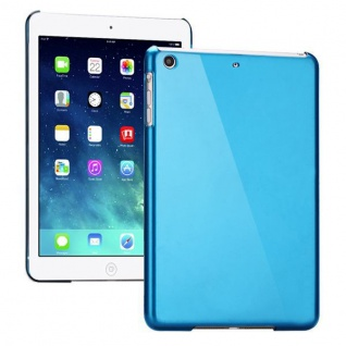 Hardcase Glossy Blau für Apple iPad Air Case Cover Hülle Schale Etui + Folie