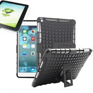 Für Apple iPad 9.7 2018 Hybrid Outdoor Schutzhülle Schwarz Tasche 0.4 H9 Glas