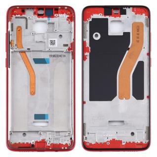 Gehäuse Rahmen Mittelrahmen Deckel für Xiaomi Redmi Note 8 Pro Rot Ersatz