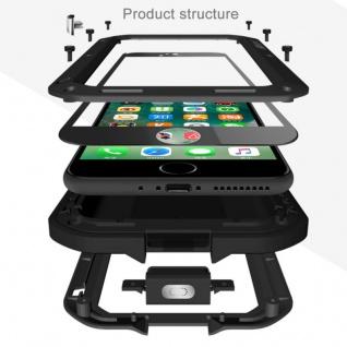 Love MEI Outdoor Metall Bumper Hülle für Apple iPhone 7 Plus Schutzhülle Schwarz - Vorschau 2