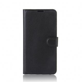 Tasche Wallet Premium Schwarz für Wiko Upulse Hülle Case Cover Etui Schutz Neu - Vorschau 3