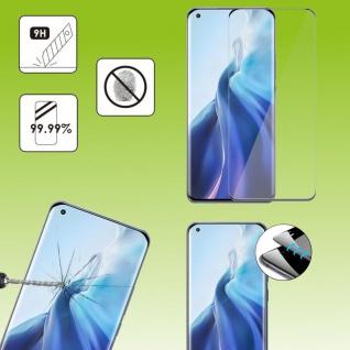 Für Xiaomi Mi 11 Pro 2x 4D Display Full LCD H9 Curved Hart Glas Folie Panzer Neu