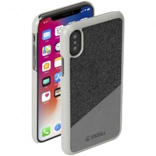 Ledercover Cover Case für Apple iPhone X / XS 5.8 Leder Schutz Hülle Tanum Gray