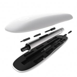 Wowstick Elektrischer Schraubendrehrer 1fs + Aufbewahrungsbox und Bits silber