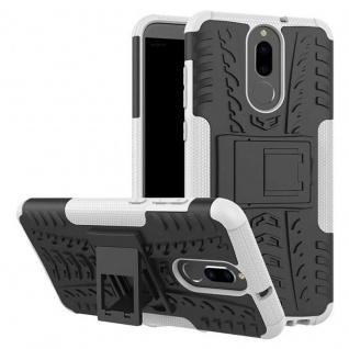 Hybrid Case 2teilig Outdoor Weiß Tasche Hülle für Huawei Mate 10 Lite Etui Neu
