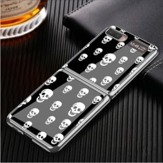 Für Samsung Galaxy Z Flip Schutzcase Hartschale Schutz Black Skull Cover Zubehör