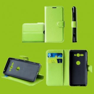 Für Samsung Galaxy S10 Plus G975F 6.4 Tasche Wallet Kunst-Leder Grün Hülle Etuis