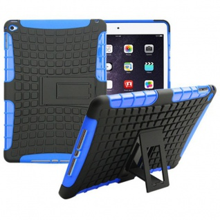 Hybrid Outdoor Schutzhülle Cover Blau für Apple iPad Air 2 Tasche Case Hülle Neu