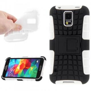 Hybrid Case 2teilig Robot Weiss Cover Hülle Zubehör Etui für Samsung Galaxy S5