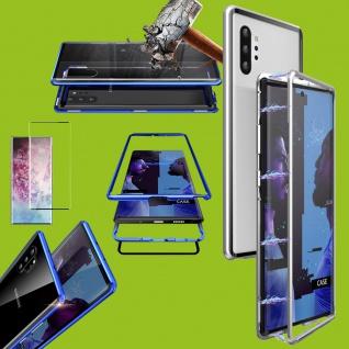 Für Samsung Galaxy Note 10 Magnet Tasche Silber Transparent + 0, 3 4D H9 Glas Neu
