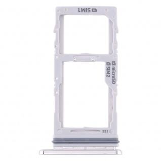 Dual Sim / Micro SD Karten Halter für Samsung Galaxy Note 10 Plus Weiß