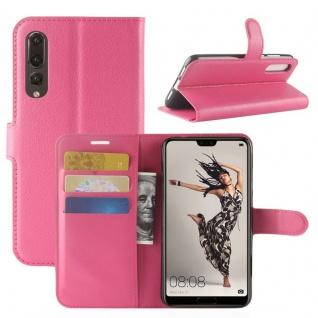 Tasche Wallet Premium Pink für Huawei P20 Pro Hülle Case Cover Schutz Schale Neu