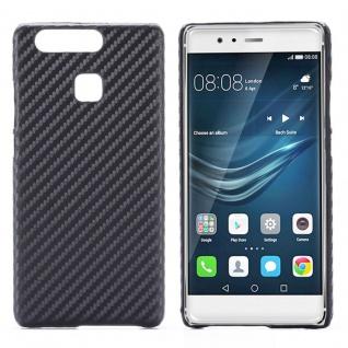 Hardcase Carbon-Optik Schwarz Hülle für Huawei P9 Case Cover Tasche Neu Schutz