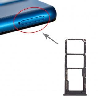 2x Sim Card Tray + Micro SD Card Tray für Samsung Galaxy A12 Schwarz Ersatzteil