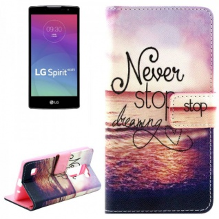 Schutzhülle Muster 47 für LG Spirit C70 H420 Bookcover Tasche Hülle Wallet Case
