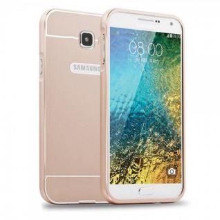 Alu Bumper 2 teilig Gold für Samsung Galaxy A7 2016 A710F Hülle Case Tasche Neu