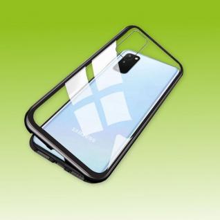 Für Samsung Galaxy S20 FE Magnet Metall Glas Schwarz Tasche Hülle Case Cover Neu