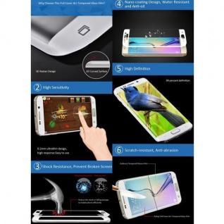 2x 4D Full 0, 3 H9 Curved Hartglas Schwarz Folie für Samsung Galaxy Note 9 N960F - Vorschau 4
