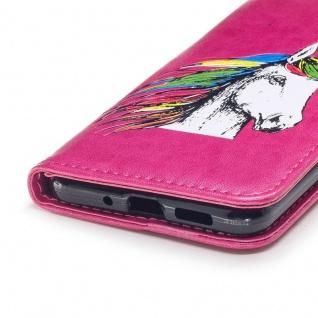 Tasche Wallet Einhorn Pink für Huawei P10 Lite Hülle Case Cover Etui Schutz Neu - Vorschau 5