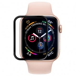 0, 2 mm H9 Hart Glas für Apple Watch 4 + 5 Gen 44 mm Schwarz Schutz Zubehör Folie