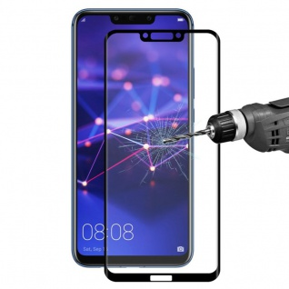 2x Für Huawei Mate 20 4D 0, 3 mm H9 Full Curved Display Hart Glas Folie Schwarz