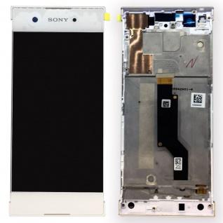 Sony Display LCD Komplett mit Rahmen für Xperia XA1 und Dual Weiß Ersatzteil Neu