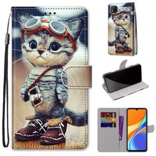 Für Xiaomi Redmi 9C Kunst-Leder Handy Tasche Motiv 1 Hülle Etuis Cover Schutz