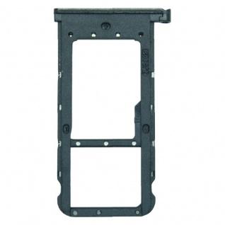 Für Huawei P Smart Plus Karten Halter Sim Tray Schlitten Holder Schwarz Ersatz