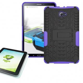 Hybrid Outdoor Tasche Lila für Samsung Galaxy Tab A 10.1 T580 + 0.4 Hartglas