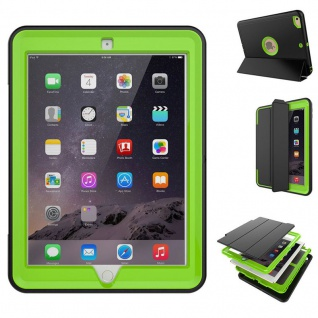Hybrid Outdoor Schutzhülle Cover Grün für New Apple iPad 9.7 2017 Tasche Case