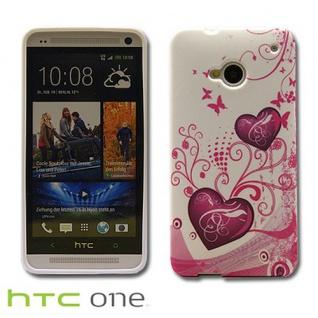 Silikonhülle Design Motiv Muster Hülle Case Schale Cover für HTC Handys Neu Top - Vorschau 2