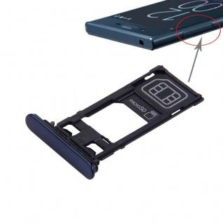 MicroSD Ladebuchse Abdeckung Kappe Dichtung Sony Xperia XZ Single Dunkelblau Neu