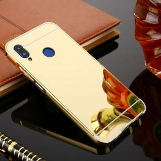 Spiegel / Mirror Alu Bumper 2teilig Gold für Huawei P20 Tasche Hülle Cover Neu
