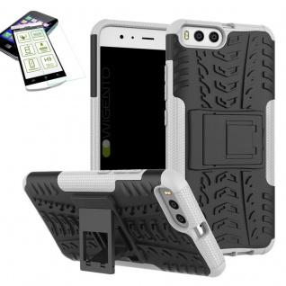 Hybrid Case Tasche Outdoor 2teilig Weiß für Xiaomi Mi6 Hülle + Hartglas Etui